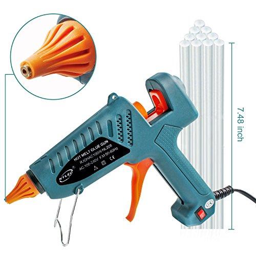 Hot Glue Gun kits, 10pcs Glue Sticks High Temperature Melting Glue Gun 100-Watt Industrial Glue Gun Flexible Trigger for DIY Small Craft Projects&Sealing and Quick Repairs