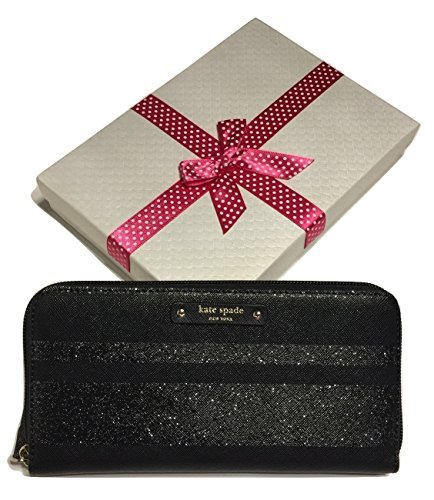 Kate Spade New York Haven Lane Glitter Stripes Neda WLRU3224 Black