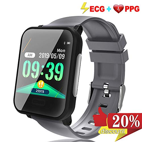 Fitness Tracker ECG&PPG Heart Rate Monitor Blood Pressure, Smart Watch HR, GPS Tracking Running Swim Smart Bracelet, Waterproof Pedometer, Sleep Monitor, Step, Calories Counter for Android/iOS Prime