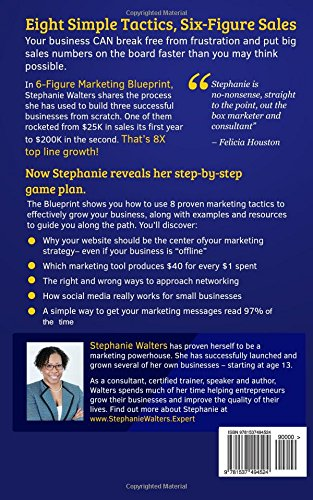 6 figure marketing blueprint 8 proven tactics small business 6 figure marketing blueprint 8 proven tactics small business owners can use to generate up to 200k in under 2 years stephanie l walters 9781537494524 malvernweather Gallery