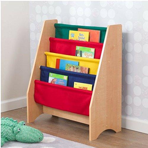 KidKraft Sling bookshelf – Primary & Natural