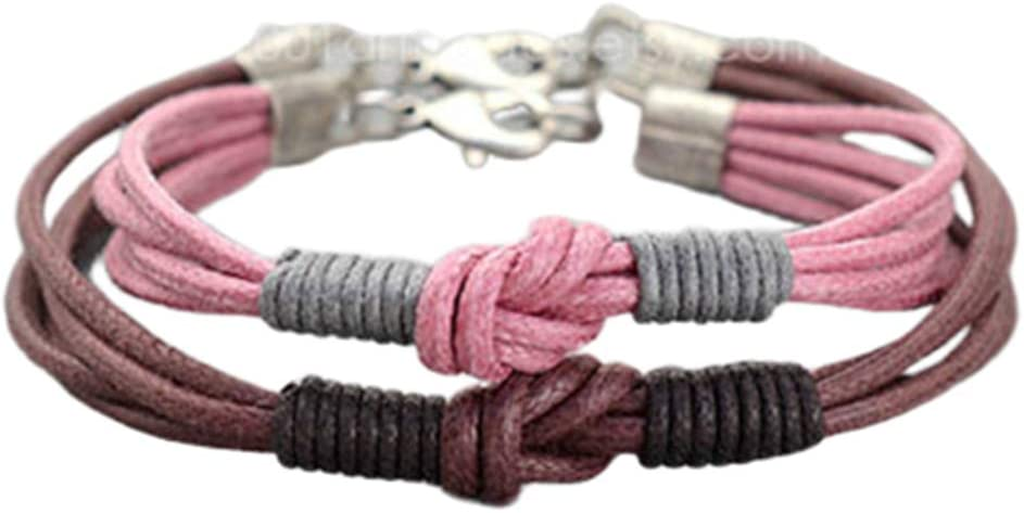 His and Hers Bracelet Friendship Bracelets Best Friend Forever Bracelets,Love Knot Bracelets Matching bracelets