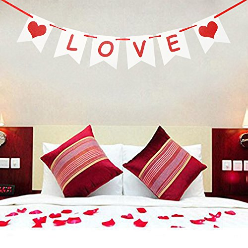 LOVE Banner | Valentines Day Decorations | Valentines Garland | Valentine Photo Props | Engagement Banner Decorations | Wedding Banner Decorations | Anniversaries Banner Decorations -