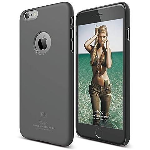 elago [Slim Fit][Soft Feel Dark Gray] - [Light][Minimalistic][True Fit] – for iPhone 6/6S Plus (Phone Covers For Iphone 6 Elago)