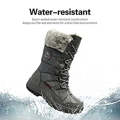 NORTIV 8 Women's Mid Calf Insulated Winter Snow Boots | Snow Boots