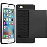 Apple iPhone 5C - Dual Layer Slim Armour Hybrid Hard Cover Case with Credit Card Holder + Free Screen Protector