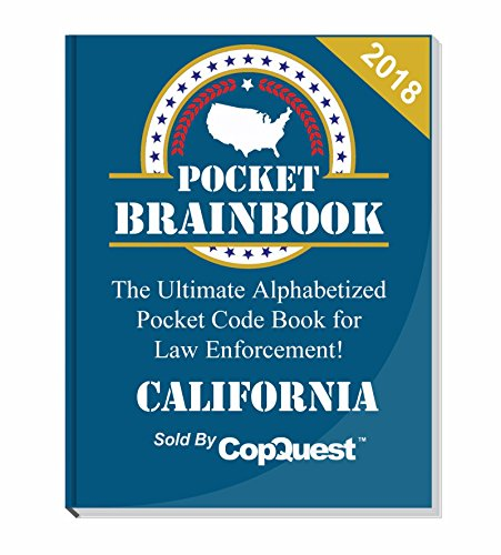 Cheap Pocket Brainbook - California Police Edition - 2019