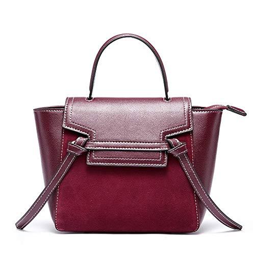 Fashion Scrub Womens Handbag Wings Borse A Spalla In Pelle Winered