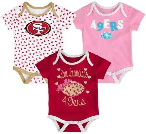 Outerstuff NFL 49ers Girls 3 Pack Set