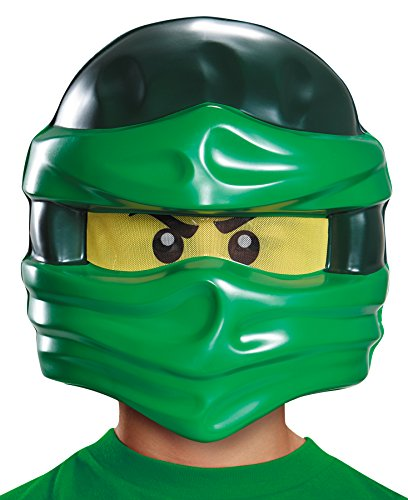 [Lego Ninja Warrior Lloyd Theme Party Minifigure Plastic Half Mask] (Lego Ninja Costume)