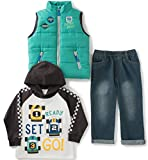 Kids Headquarters Baby Boys' 3 Pieces Vest Set - Raglan Tee