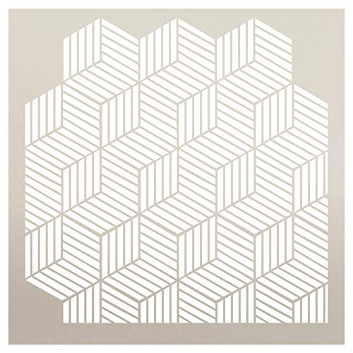Multimedia Hexagon Tri-View Stencil StudioR12 | Wood Sign | Reusable Mylar Template | Wall Decor | Multi Layering Art Project | Journal Art Deco | DIY Home - Choose Size (9