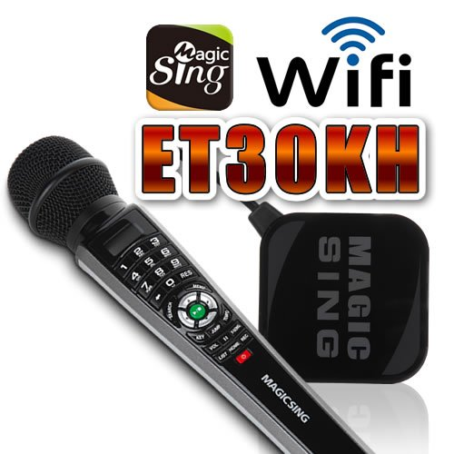 2017 Magic Sing ET30KH WiFi Karaoke Mic Free 12K songs & 1 Year Subscription to access 220000 English & International songs by Magic Sing