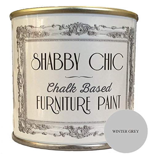 Winter Grey Furniture Paint great for creating a shabby chic style. 1 litre Rainbow Chalk Markers Ltd