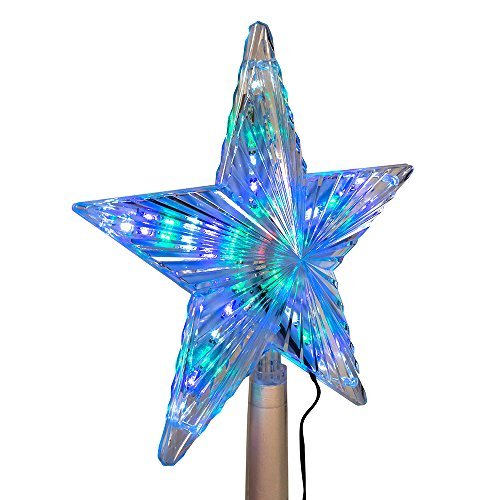 Kurt Adler Color-Changing LED Star Treetop, 8.5-Inch