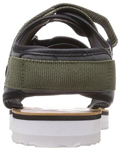 Tommy Jeans Men's Urban Tj Strap Sling Back Sandals Green (Dusty Olive 011) QLx4Gv2