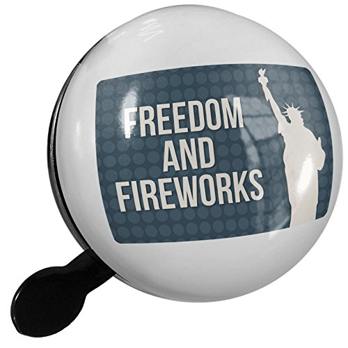 Small Bike Bell Freedom and Fireworks Fourth of July Lady Liberty - NEONBLOND by NEONBLOND
