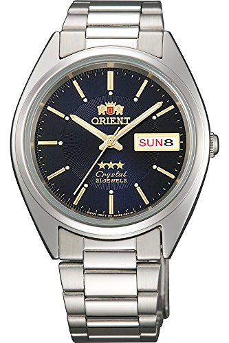 Orient #FAB00006D Men's 3 Star Stainless Steel Blue Dial Day Date Automatic ()