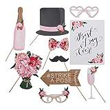 Hochzeit 'Flower' Photo Booth, Foto-Requisite, Fotozubehör, Party Accessoires - 10 teilig