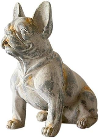 Estatuas para jardín Artesanías de Resina Bulldog Francés Decoración Decoración Jardín Decoración Escultura Estatua Perro Estatua Decoración: Amazon.es: Hogar