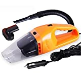 mini vac hand pump - 4000 PA Suction Portable Car Handheld Vacuum Dirt Cleaner Wet & Dry 12V 120W High Power Automotive Vehicle Auto Vac (Orange)