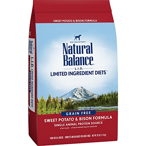 Natural Balance Limited Ingredient Diets Sweet Potato & Bison Formula Dry Dog Food, 26 Pounds, Grain Free