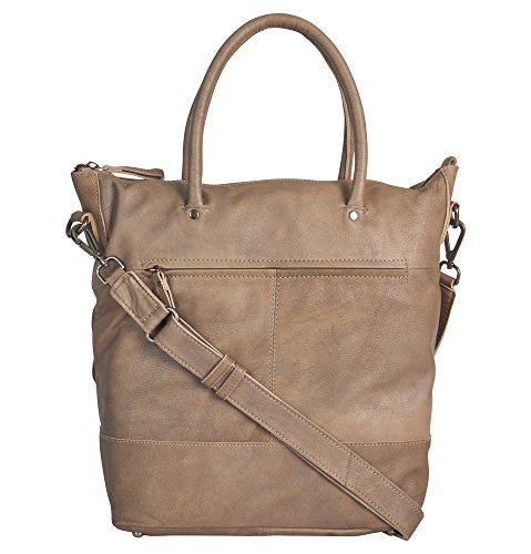 Voi leather design VOI kurzgrifftasche casual 21208 pelle bovina donna Tortora Salida Populares t0fZW5n1A