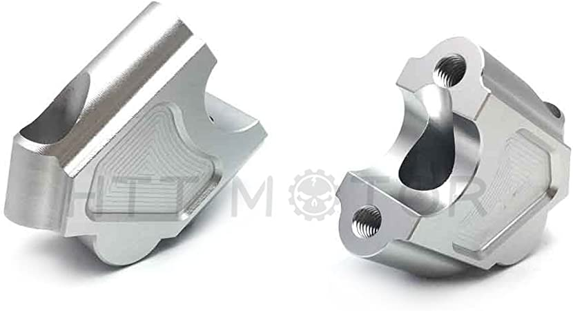 Bay4Global GY-F650GS.TW.F800GS.30 Motorcycle Handlebar Bar Risers for BMW F650GS TWIN 30mm Gray