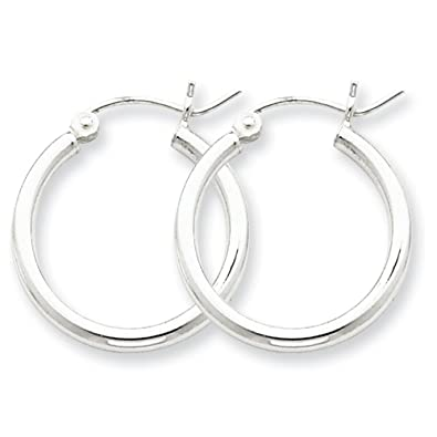 6beb397f0 Designs by Nathan 925 Silver Classic Seamless Tube Hoop Earrings 2mm x 15mm  about 5/