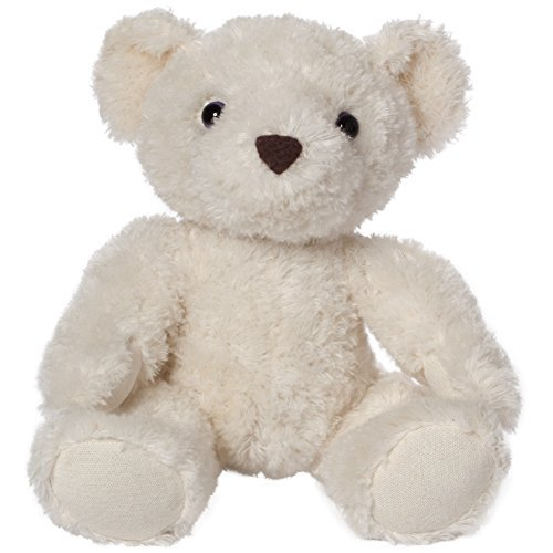 Bears For Humanity Baby Certified Organic White Teddy Bear Plush Stuffed Animal. 7 Inches. One Is Donated To A Child In Need For Each One Purchased -