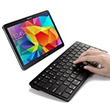 Mini Bluetooth Keyboard for Samsung Galaxy Tab S2 / S3 9.7 / 8.0 Inch, Galaxy Tab E, Galaxy Book, Galaxy Tab A 9.7 / 8.0 Inch, Galaxy Tab 4 10.1 / 8.0 / 7.0 Inch, Galaxy Tab S, Black