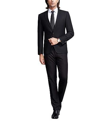 Amazon.com: Vestido formal para hombre, 2 piezas, traje de ...
