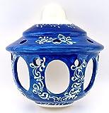 ART ESCUDELLERS Ceramic APLIQUE handmade and handpainted in BLUE MEDITERRANEAN decoration. 7,87'' x 3,94'' x 7,87''