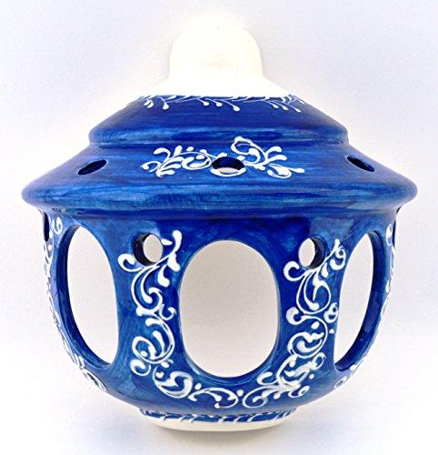 ART ESCUDELLERS Ceramic APLIQUE handmade and handpainted in BLUE MEDITERRANEAN decoration. 7,87'' x 3,94'' x 7,87'' by ART ESCUDELLERS