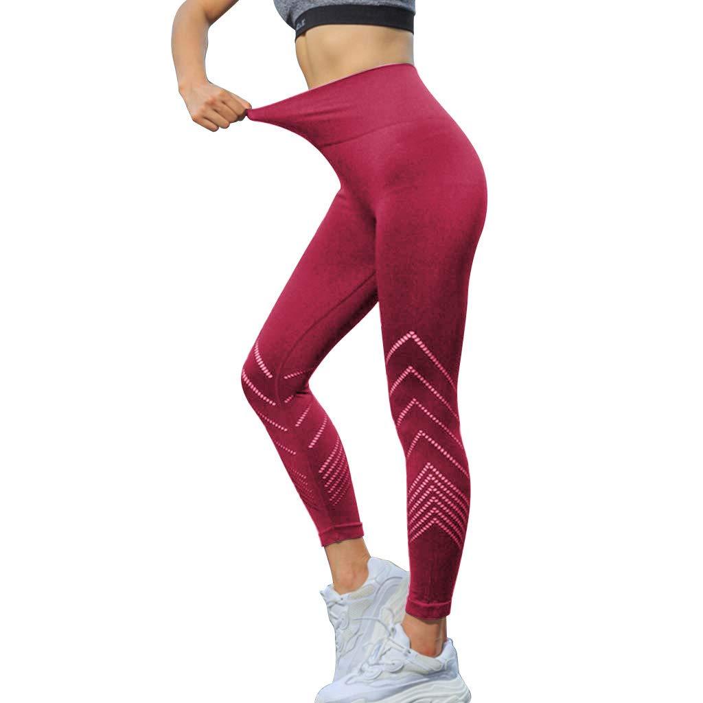 A-Artist Damen Yogahose Laufhose Hohe Taille H/üfte Sporthose lang Fitnesshose Drucken Slim Fit Yoga Leggings Stretch-Hose Lauf-Tights f/ür Yoga