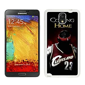 New Custom Design Cover Case For Samsung Galaxy Note 3 N900A N900V N900P N900T Cleveland Cavaliers Lebron James 1 White Phone Case