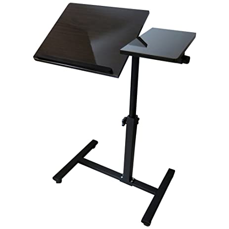 Evelots Angle Height Adjustable Rolling Laptop Notebook Over Sofa Bed Table