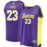 Outdoor stuff Men's Lakers James 2017/18 Fast Break Replica Jersey Purple
