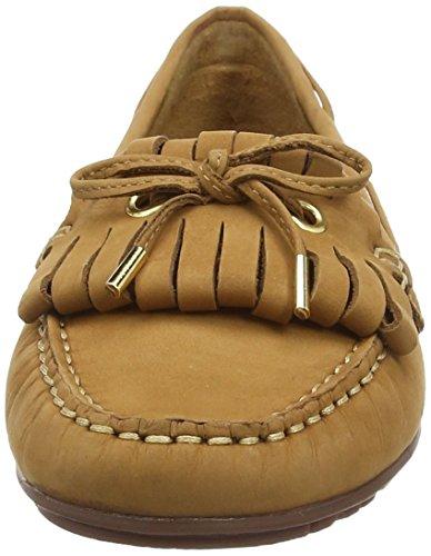 Sebago Vrouwen Meriden Tan Kiltie Casual Slip Op Suède Loafer Schoenen B409043 Bruin