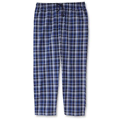 Joe Boxer Men's Poplin Pajama Pants Men's XXL XX-Large - Blue Plaid (Boxer Joe Pants)