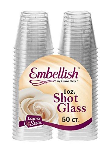 Embellish Crystal Clear Hard Plastic 1oz Clear Shot Glass Pack Of 50 (Glasses Under $5 Shot)
