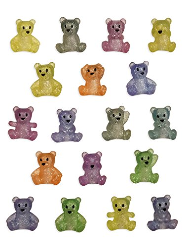 Little Bear Party Favors - 18 Pack Glitter Bears (My Little Pony Cupcake Wrappers)