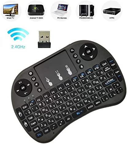 Computer Accessories Support Language Russian i8 Air Mouse Wireless Keyboard with Touchpad for Android TV Box /& Smart TV /& PC Tablet /& Xbox360 /& PS3 /& HTPC//IPTV
