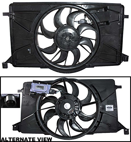 APDTY BV6Z8C607K Radiator Cooling Fan Assembly Fits 2012-2017 Ford Focus Non-Turbo (Includes Fan Control Module, Electric Motor, Shroud (Replaces Ford RF396, RF276, BV6Z8C607K) - Ford Focus Radiator Fan