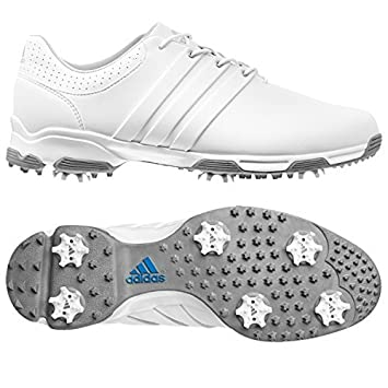 Adidas Mens Tour Traxion TR Golf Shoes (White (Q44610), 9.5 UK)