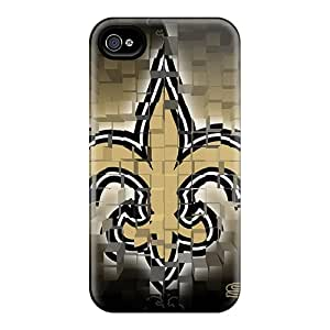 Premium Durable New Orleans Saints Fashion Tpu Iphone 4/4s Protective Case Cover