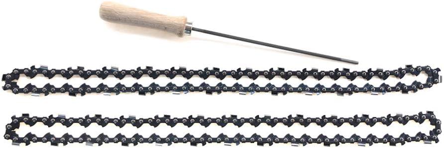 2 cadenas de sierra 3//8 1,1 44 eslabones motorizados para Stihl MS 170 con lima redonda de 4 mm apta para espada de la longitud de 30 cm de la marca Stihl Flexparts