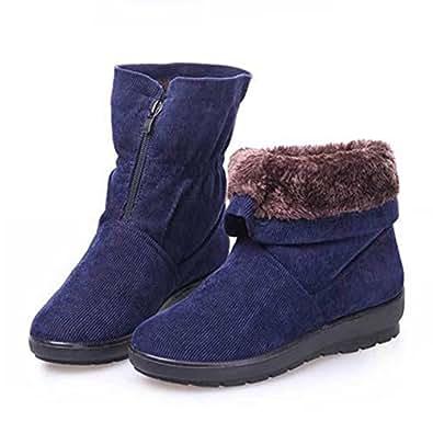 Amazon.com | GIY Women Fashion Anti-slip Fur Lining Snow