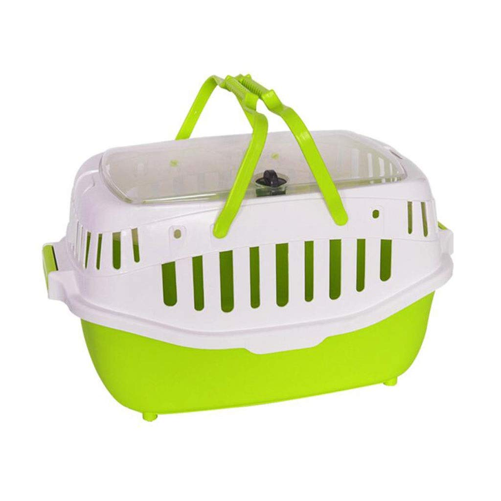 Green YULAN Shopping Basket Pet Box Dismantling Cage Carrying Cat Portable Travel Transport Car Out Shipping 3 color 58  42.5cm (color   Green)