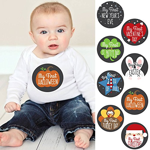 Baby's First Holidays Milestone Sticker Set - Baby Shower Gift Ideas - Set of (Easter Outfit For Girls)